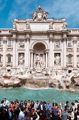 Photograph - Fontana Di Trevi In Rome by George Atsametakis