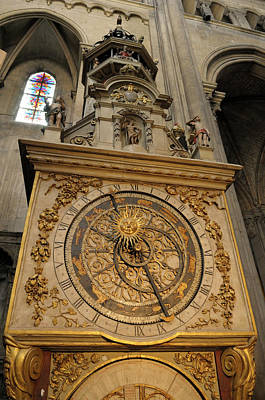 Astronomical Clock Photograph - France, Rhone-alpes, Lyon by Kevin Oke