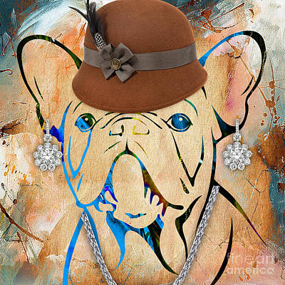 Pets Mixed Media - French Bulldog Collection by Marvin Blaine