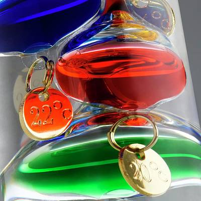 Thermometers Photograph - Galileo Thermometer by Science Photo Library