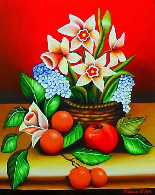 Garden Delights Art Print by Monica  Vega