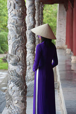Girl In Ao Dai (traditional Vietnamese Art Print