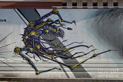 Handicraft Photograph - Graffiti On A Wall by George Atsametakis
