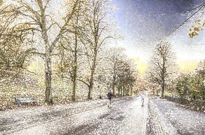 Jogger Digital Art - Greenwich Park London Art by David Pyatt