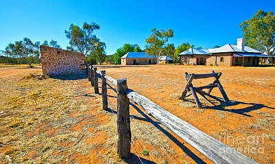 Royalty-Free and Rights-Managed Images - Historical Telegraph Station Alice Springs by Bill  Robinson