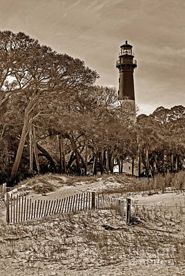 New Years - Hunting Island Lighthouse by Skip Willits