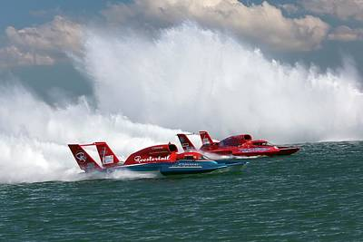 High Speed Photograph - Hydroplane Racing by Jim West