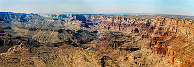 Photograph - 8-image Panorama Grand Canyon Desertview by Bob and Nadine Johnston