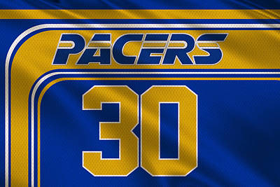 Indiana Pacers Uniform Art Print by Joe Hamilton