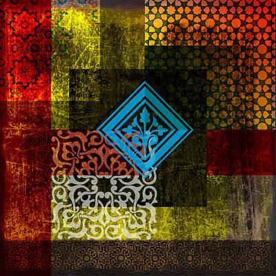 Islamic Motives Painting - Islamic Motif 01 by Corporate Art Task Force