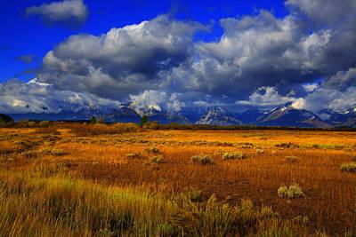Photograph - Jackson And Salt Lake Usa by Richard Wiggins