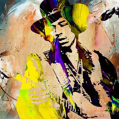 Jimi Hendrix Painting Art Print