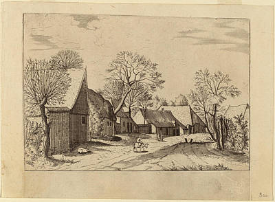Shed Drawing - Johannes And Lucas Van Doetechum After Master Of The Small by Quint Lox
