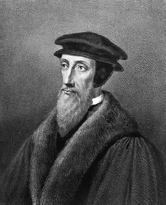 Reformer Painting - John Calvin (1509-1564) by Granger