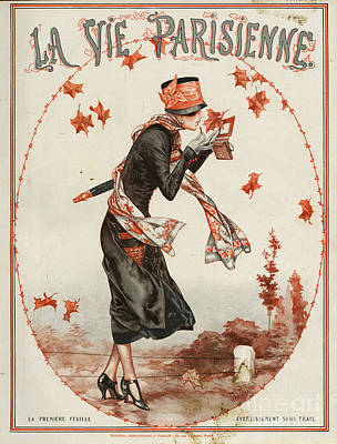 Drawing - La Vie Parisienne  1924 1920s France by The Advertising Archives