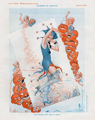 La Vie Parisienne 1930 1930s France Cc Art Print by The Advertising Archives