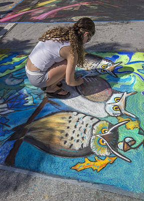Photograph - Lake Worth Street Painting Festival by Debra and Dave Vanderlaan