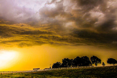 Art Print featuring the photograph Late Afternoon Nebraska Thunderstorms by NebraskaSC