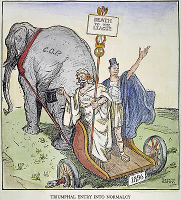 Staff Painting - League Of Nations Cartoon by Granger