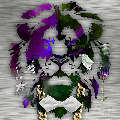 Mixed Media - Lion Collection by Marvin Blaine