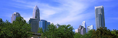 Charlotte Photograph - Low Angle View Of Skyscrapers by Panoramic Images