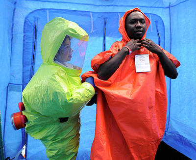 Terrorism Photograph - Major Emergency Decontamination Training by Public Health England