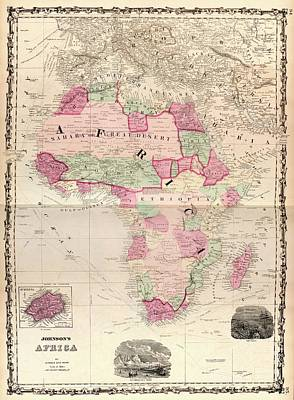 Cooks Illustrated Photograph - Map Of Africa by Library Of Congress, Geography And Map Division