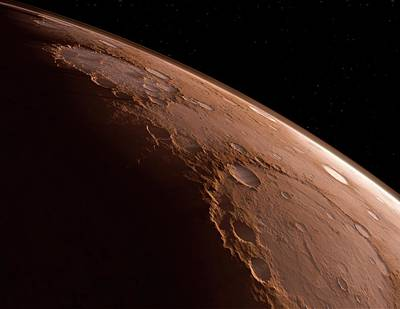 Outer Space Photograph - Mars by Detlev Van Ravenswaay