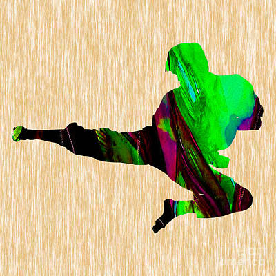 Action Sports Art Mixed Media - Martial Arts Karate by Marvin Blaine
