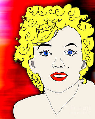 Marylin Monroe Painting Art Print