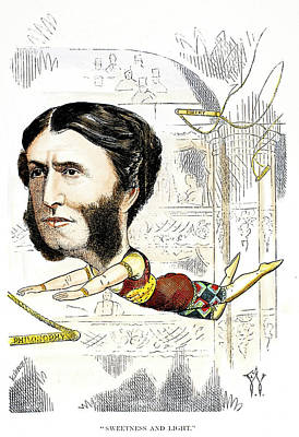 Caricature Artist Painting - Matthew Arnold (1822-1888) by Granger