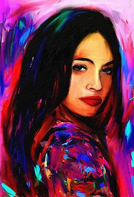 Megan Fox Art Print by Bogdan Floridana Oana