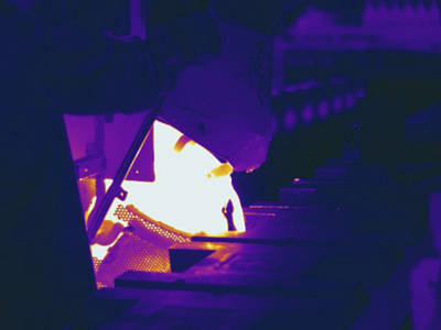 Metal Foundry, Thermogram Print by Science Stock Photography