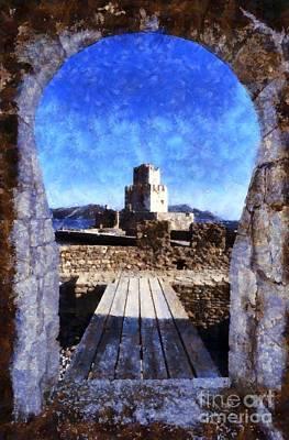 Methoni Castle Art Print by George Atsametakis