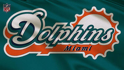 Dolphin Wall Art - Photograph - Miami Dolphins Uniform by Joe Hamilton