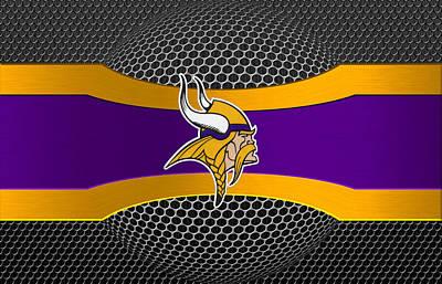 Minnesota Vikings Art Print by Joe Hamilton