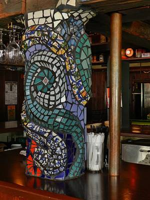 Mosaic Pillar Art Print by Charles Lucas