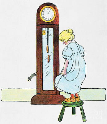 Hickory Dickory Dock Photograph - Mother Goose, 1916 by Granger