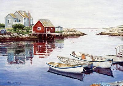 Pastel - Peggy's Cove by Nancy Yang