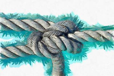 Line Painting - Nautical Knots by George Atsametakis