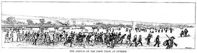Oklahoma Drawing - Oklahoma Land Rush, 1889 by Granger
