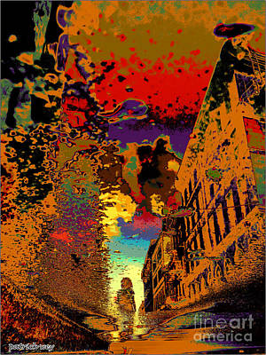 Quebec Streets Digital Art - Old Montreal Reflections-a by Patrick Wey