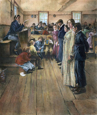 Schoolboy Painting - One-room Schoolhouse by Granger