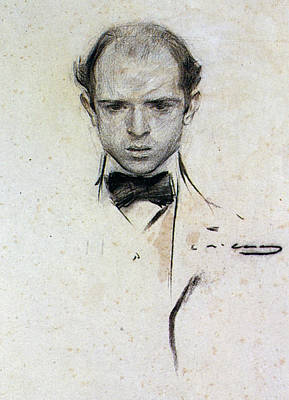 Pablo Drawing - Pablo Casals (1876-1973) by Granger