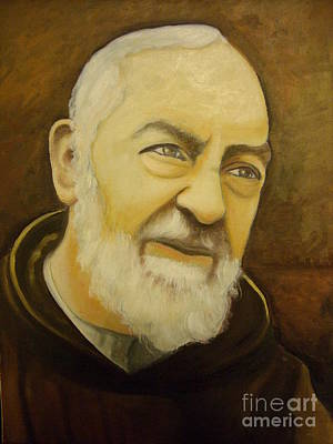 Etc Painting - Padre Pio by Archangelus Gallery