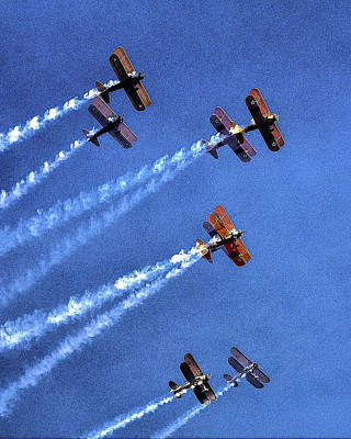 Jerry Sodorff Royalty-Free and Rights-Managed Images - 8 Planes 12932 by Jerry Sodorff