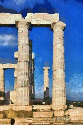 Painting - Poseidon Temple by George Atsametakis