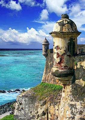 Visitors Photograph - Puerto Rico, San Juan, Fort San Felipe by Miva Stock