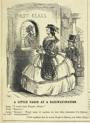 The Railway Station Photograph - Punch by British Library