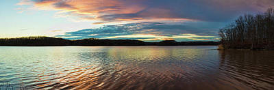 Reflection Of Clouds In A Lake Art Print by Panoramic Images